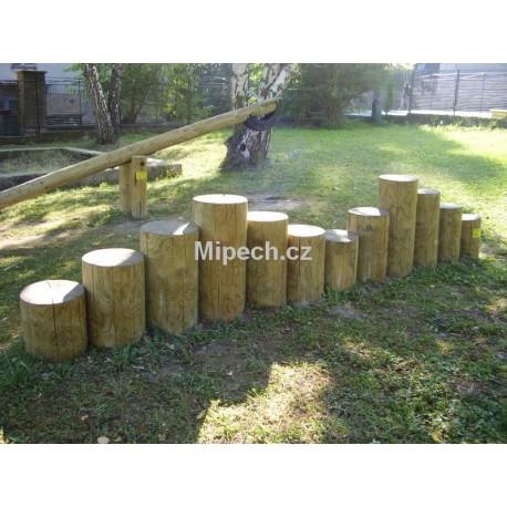Kůly pro přecházení a přeskok, 12 ks o 14-17 cm délka 2,4 m