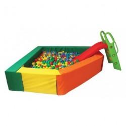 Bazén rohový barevný 200 x 200 cm