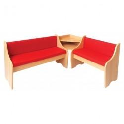 Čalouněná rohová lavice
