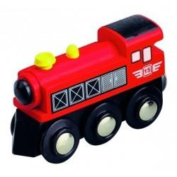 Parní lokomotiva červená