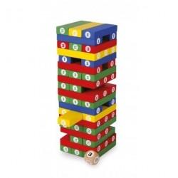 Skládačka věž s číslicemi