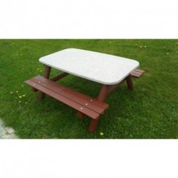 Stůl se dvěmi lavicemi pro 8 - 10 dětí deska stolu 1400 x 800 mm