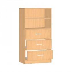 Safety skříňka se zásuvkami a policemi - 60x121x45 cm