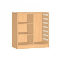 Skříňka na plastové boxy s policemi - 71x76 cm