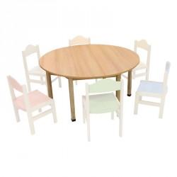 Stůl obdélník 80x120 cm, nastavitelný 40/46/52 cm