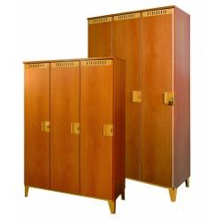 Šatní skříň 3-dílná nízká, 90x140x40 cm