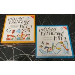 Soubor kartičkové vzdělávací hry 1 a 2 (AKCE)