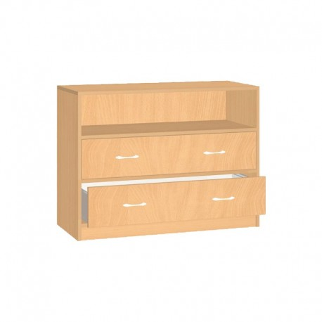 Safety skříňka se zásuvkami a otevřenou policí - 100x76x45 cm