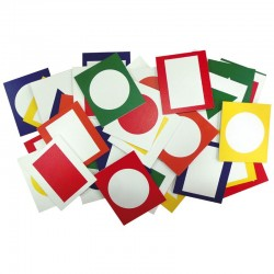 Barvy a tvary, obrázky do paravanu, sada – 40 ks