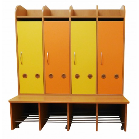 Šatní skříň Profi 4-místná, 119x130x54 cm