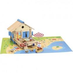 Dřevěná stavebnice plážový domek 120ks