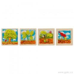 Strom – vývojové vrstvené puzzle ze dřeva, 4 vrstvy, 44 díly