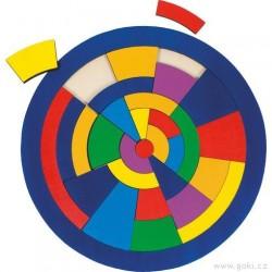 Kulaté puzzle na desce – Barvy, 29 dílů