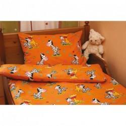 Povlečení Zebra oranžová bavlna
