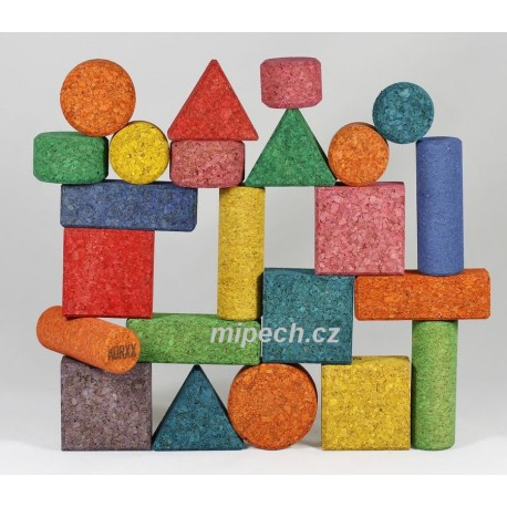Korková stavebnice - Form XC mix edu 112 ks ve Filc boxu - Slevněno