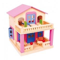 Růžový dům pro panenky (VP)