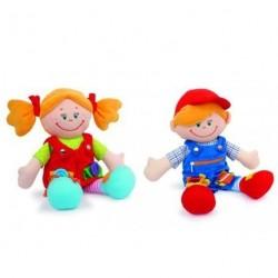 Motorické panenky Andrea a Petr 30cm
