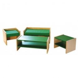 Čalouněná lavice nastavitelná pro 2, sedadlo výška 12-26cm