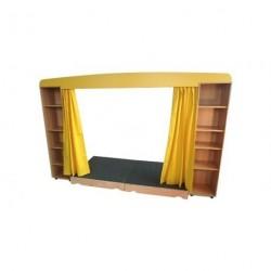 Divadlo s oponou š/v/h – 285/185/100 cm, výška pódia 15cm