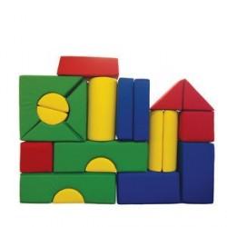 21-dílná molitanová stavebnice