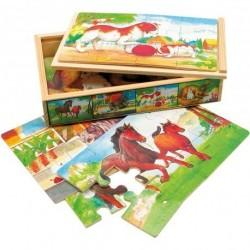 Puzzle v krabičce- zvířátka