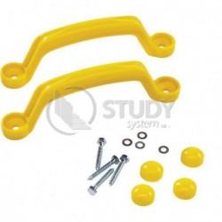 Sada plastových úchytů 2 ks - barva žlutá