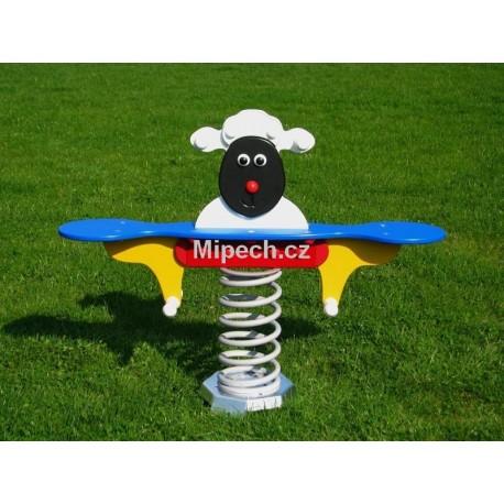 Houpadlo na pružině MP - černá ovečka
