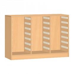 Skříňka na plastové boxy - 105x76 cm