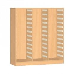 Skříňka na 24 boxů - 105x155 cm