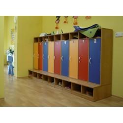 Šatní skříň Color 4-místná, 119x130x54 cm