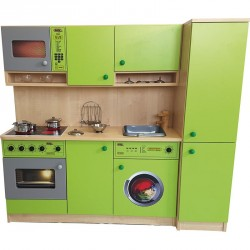 Kuchyň s pračkou a lednicí - 142x125x38cm
