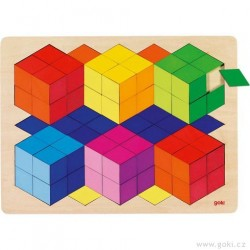 Puzzle na desce s 3D efektem, 86 dílů