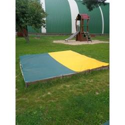 NOVINKA Síť na pískoviště dvoubarevná, z velmi kvalitní a pevné síťoviny SIO-LINE 85% - cena za 1m2