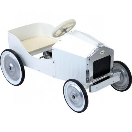 Retro Kovové šlapací auto bílé