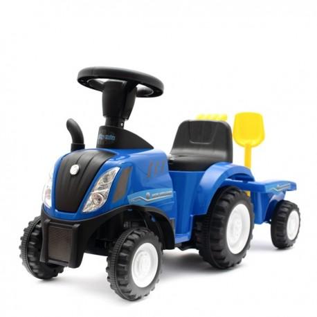Dětské odrážedlo traktor s vlečkou a nářadím