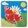 Vrstvené puzzle vývoj Motýl